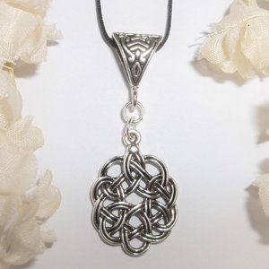 Silver Celtic Knot Necklace Jewelry Gift Idea 6545